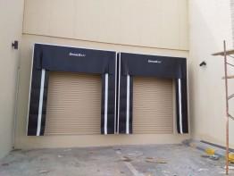Pete DoorHan Retractable Dock Shelter Installation at MSQP Contracting, Dammam (Feb2018)